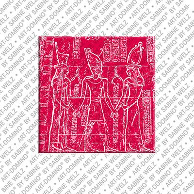 ART-DOMINO® BY SABINE WELZ Ägypten - Chnum mit Krone von Ober- und Unterägypten
