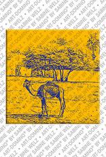 ART-DOMINO® BY SABINE WELZ Ägypten - Dromedar am Nilufer