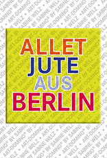 ART-DOMINO® by SABINE WELZ Allet Jute aus Berlin – Aimant avec un texte amusant