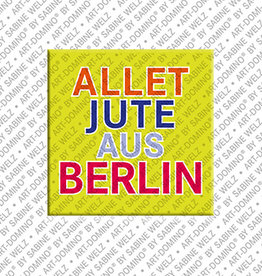 ART-DOMINO® BY SABINE WELZ Magnet - ALLET JUTE AUS BERLIN