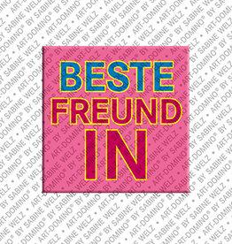 ART-DOMINO® by SABINE WELZ Aimant - BESTE FREUNDIN