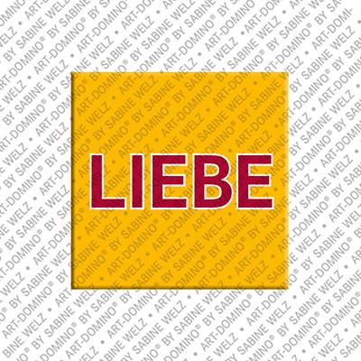 ART-DOMINO® by SABINE WELZ Liebe - Magnet mit Text