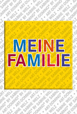 ART-DOMINO® BY SABINE WELZ Meine Familie - magnet with text