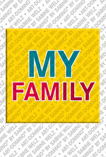 ART-DOMINO® by SABINE WELZ My Family - Magnet mit Text