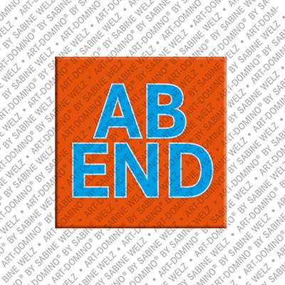 ART-DOMINO® by SABINE WELZ Abend - Aimant avec un texte