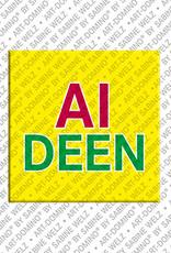 ART-DOMINO® by SABINE WELZ Aideen - Magnet mit dem Vornamen Aideen