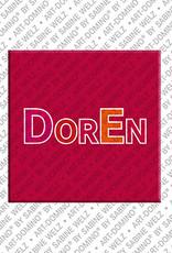 ART-DOMINO® by SABINE WELZ Doren - Magnet mit dem Vornamen Doren