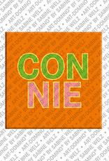ART-DOMINO® by SABINE WELZ Connie - Magnet mit dem Vornamen Connie