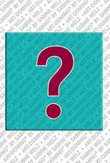 ART-DOMINO® by SABINE WELZ Question Mark - Magnet with Motif Question Mark