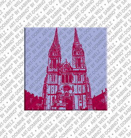 ART-DOMINO® by SABINE WELZ Magnet - ZAGREB - 01