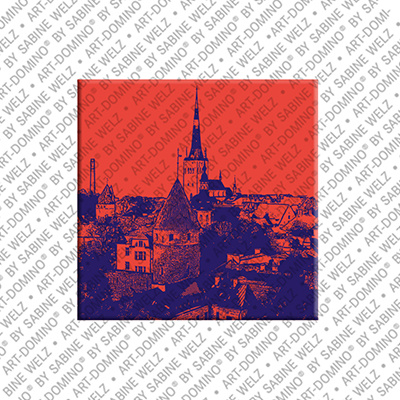 ART-DOMINO® by SABINE WELZ Tallinn - Blick auf Altstadt