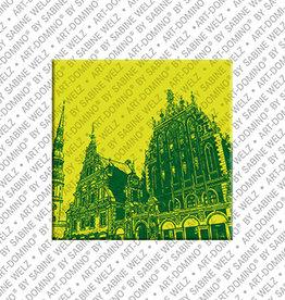 ART-DOMINO® by SABINE WELZ Magnet - RIGA - 01