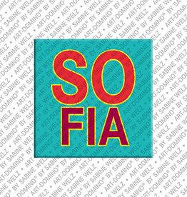 ART-DOMINO® by SABINE WELZ Magnet - SOFIA - 00