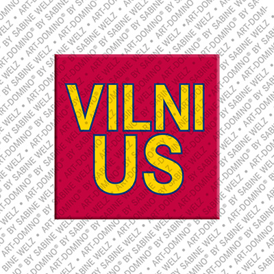 ART-DOMINO® by SABINE WELZ Vilnius - Lettering