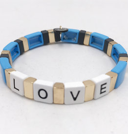 LUA ACCESSORIES  FOREVER LOVE BRACELET - BLUE