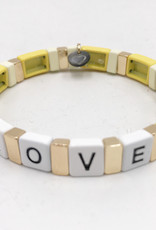 LUA ACCESSORIES  ARMBAND FOREVER LOVE - GELB
