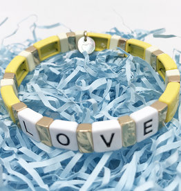 LUA ACCESSORIES  FOREVER LOVE BRACELET - YELLOW
