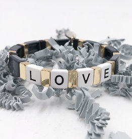 LUA ACCESSORIES  FOREVER LOVE BRACELET - GREY