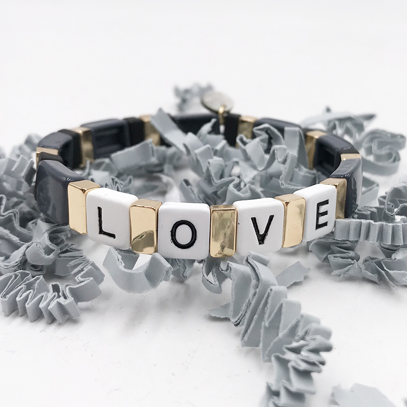 LUA ACCESSORIES  ARMBAND FOREVER LOVE - GRAU