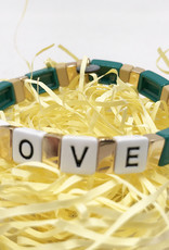 LUA ACCESSORIES  ARMBAND FOREVER LOVE - GRÜN