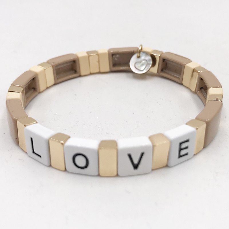 LUA ACCESSORIES  ARMBAND FOREVER LOVE - NATUR