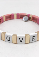 LUA ACCESSORIES  ARMBAND FOREVER LOVE - ROSA