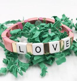LUA ACCESSORIES  BRACELET FOREVER LOVE - ROSE