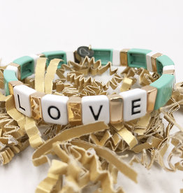 LUA ACCESSORIES  FOREVER LOVE BRACELET - TURQUOISE
