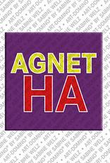 ART-DOMINO® BY SABINE WELZ Agnetha - Magnet mit dem Vornamen Agnetha