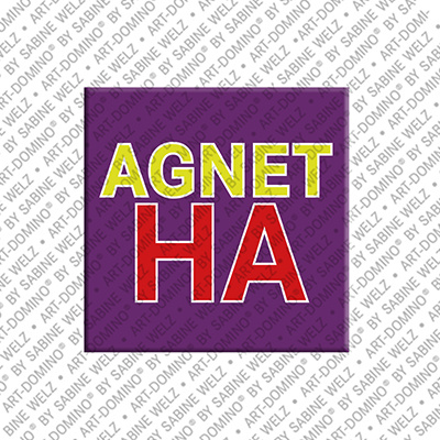 ART-DOMINO® BY SABINE WELZ Agnetha - Aimant avec le nom Agnetha
