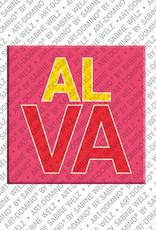 ART-DOMINO® BY SABINE WELZ ALVA - Magnet mit dem Vornamen ALVA