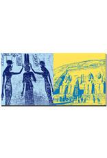 ART-DOMINO® BY SABINE WELZ Ägypten - Hathor Tempel-Relief-Nefertari + Abu Simbel-Tempelanlage für Ramses II-b