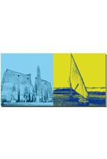 ART-DOMINO® BY SABINE WELZ Ägypten - Luxor-Tempel Pylon + Felukkenfahrt auf dem Nil
