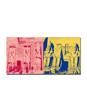 ART-DOMINO® BY SABINE WELZ Ägypten - Abu Simbel-Hathor-Tempel f. Nefertari/Eingang + Abu Simbel- Großer Tempel zum Ruhm Ramses II-c