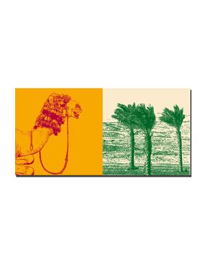 ART-DOMINO® BY SABINE WELZ Ägypten - Kamel im Nubier Dorf + Wüste am Roten Meer
