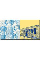 ART-DOMINO® BY SABINE WELZ Ägypten - Esna - Chnum-Tempel-Säulenhalle mit den Schöpfungstheorien + Esna - Chnum-Tempel