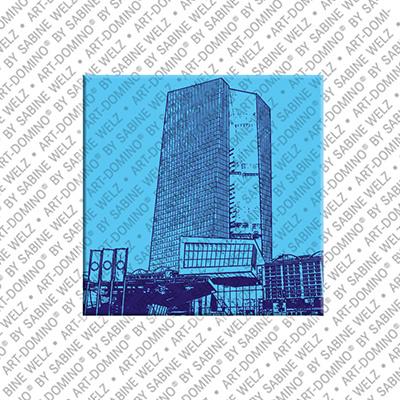 ART-DOMINO® BY SABINE WELZ Frankfurt – EZB Gebäude