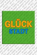 ART-DOMINO® BY SABINE WELZ Glückstadt – Schriftzug