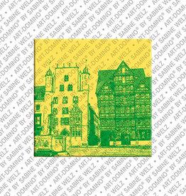 ART-DOMINO® BY SABINE WELZ Magnet - Hildesheim - 01