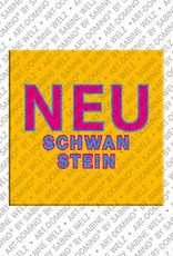 ART-DOMINO® BY SABINE WELZ Neuschwanstein – Schriftzug