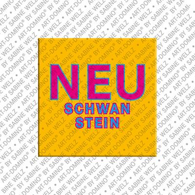 ART-DOMINO® BY SABINE WELZ Neuschwanstein – Lettering