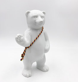 ART-DOMINO® BY SABINE WELZ BEAR OF BERLIN - 15 cm - With black, red and yellow sash