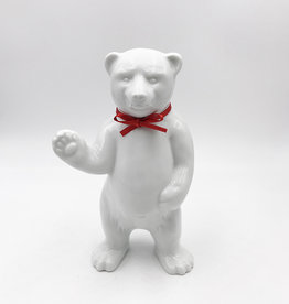 ART-DOMINO® BY SABINE WELZ BEAR OF BERLIN - 15 cm - With red collar