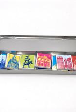 ART-DOMINO® BY SABINE WELZ Schokolade mit Deutschland-Motiven in Metalldose
