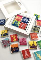 ART-DOMINO® BY SABINE WELZ Schokolade mit Berlin-Motiven in Schachtel