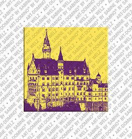 ART-DOMINO® BY SABINE WELZ Magnet - Neuschwanstein - 01