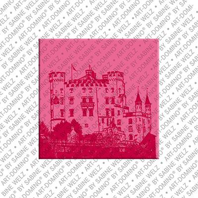 ART-DOMINO® BY SABINE WELZ Neuschwanstein – Schloss Hohenschwangau 1