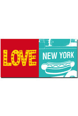 ART-DOMINO® BY SABINE WELZ New York - Love sign and NYC hot dog