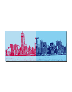 ART-DOMINO® BY SABINE WELZ New York - Skyline
