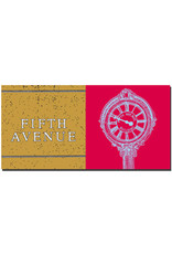 ART-DOMINO® BY SABINE WELZ New York - Fifth Avenue sign and Fifth Avenue clock